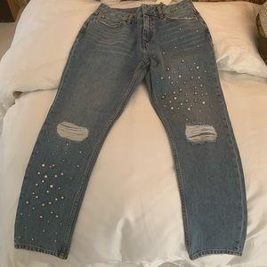 Embellished Zara Mom Jeans